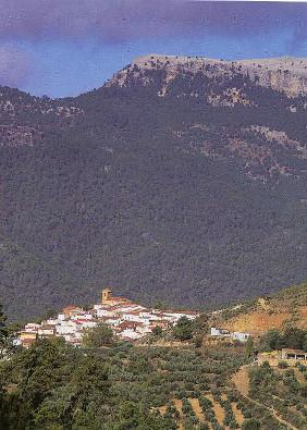 Cotillas, pueblo serrano con Alcambrón al fondo